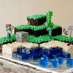 Minecraft birthday cake - the best chocolate cake and swiss meringue buttercream