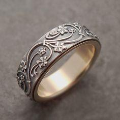 Womens Wedding Band Mens Wedding Band Rose Gold Wedding Band Mens Wedding Ring Set Womens Wedding Ring Silver Wedding Band Ivy