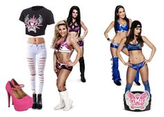 """""""Ringside with Paige for Natayla vs Nikki Bella w/ Brie Bella."""" by jamiehemmings19 ❤ liked on Polyvore featuring WWE and Tripp"""