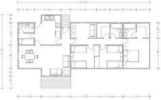 Planos Casas de Madera Prefabricadas: de 110 m2 Cod.00141
