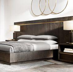 Bezier Bed Collection | RH Modern