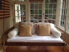 Day bed porch swing by TheShoponSkaggsCreek on Etsy https://www.etsy.com/listing/157688878/day-bed-porch-swing