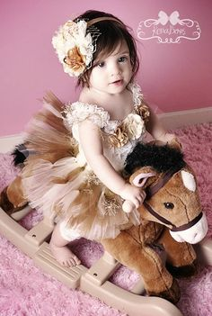 Golden Vintage Princess Holiday Pageant Birthday Tutu by KenaBows, $60.00