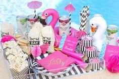 Flamingo Bachelorette Pool Party Decor