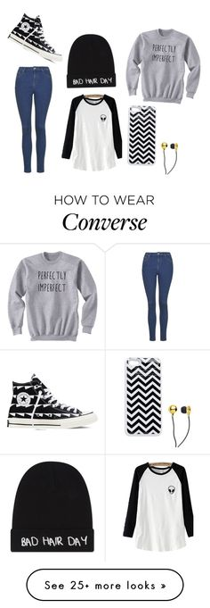 """""""School"""" by issylion on Polyvore featuring Topshop, Converse, CUL-DE-SAC and Local Heroes"""