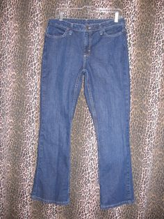 Riders Women's Boot Cut Stretch Tummy Control Pocket Panels Denim Jeans Size 8 P #Riders #BootCut