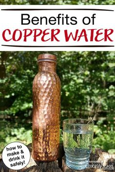 The benefits of copper water date back to ancient cultures, especially Ayurvedic medicine in India. Read more to find out if this is just a health fad. or if there's something to it, plus how to make and drink copper water safely at home! Calendula Benefits, Lemon Benefits, Matcha Benefits, Water Benefits, Coconut Health Benefits, Copper Benefits Health, Benefits Of Cupping, Ayurveda, Freezing Lemons