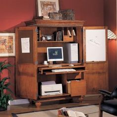 Home Office Furniture Computer Armoires | ... StylePath for furniture-armoires, wardrobes, and computer armoires