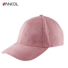 Vancol musim panas baseball cap wanita 2016 merek fashion grosir jalan Hip  Hop Caps Topi untuk Wanita Suede Hitam Abu-abu Baseball Cap 5d80469d11