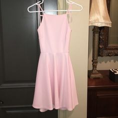 Backless Pique Dress lined top, worn once, light pink Urban Outfitters Dresses Backless