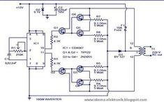 Power Inverter 100W, 12V DC to 220V AC