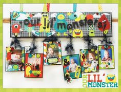 Bo Bunny April Blog Class Challenge Kit - Scrapbook.com  The Our Lil Monster Class Kit from Bo Bunny is the perfect way to display some of your favorite photos.