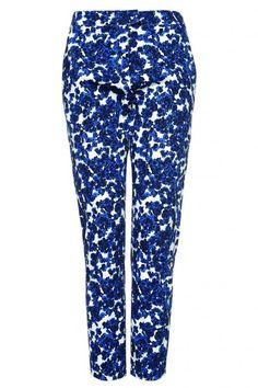 Blauw gebloemde cocktailpants van Zalando Collection @ Zalando ♥ Flowerpower