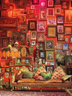 Home Design and Decor , Bold Interior Gypsy Decorating Style : Gypsy Decorating Style With Framed Wall Arts
