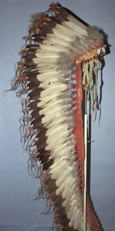 Feathered Headdress, Oglala Sioux, 1880