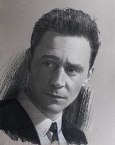 Tom Hiddleston. Artwork by Justin Maas