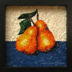 Birnen/Pears by Angela Zimek Mosaic Tile Art, Mosaic Artwork, Mosaic Glass, Tile Crafts, Mosaic Crafts, Vitromosaico Ideas, Mosaic Art Projects, Mosaic Ideas, Mosaic Flowers