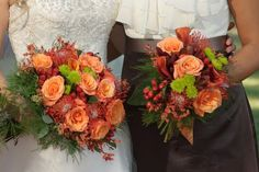 Fall wedding bouquets :  wedding flowers bouquet fall orange red Bouquet2