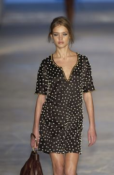 """Natalia Vodianova at Chloé, Spring/Summer 2003 = If only she would use her charity """"A Naked Heart"""" in Canada instead!"""