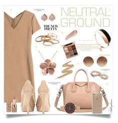 """Cool Neutrals"" by ashleydawn2 ❤ liked on Polyvore featuring Agnona, Jimmy Choo, Kendra Scott, Givenchy, Stila, Olivia Burton, Agent 18, Victoria Beckham, FOSSIL and Allurez"