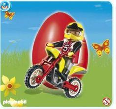 Amazon.com : Playmobil 4923 Moto Cross Rider : Toy Figure Playsets : Toys & Games