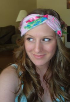 DIY Turban Headband- 100 percent no sew, used Wal-Mart shirts at approximately $4 each, and can get up to 3 head wraps from one shirt.
