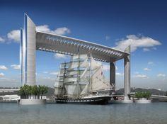 Fancy - Jacques Chaban-Delmas lifting bridge, Bordeaux
