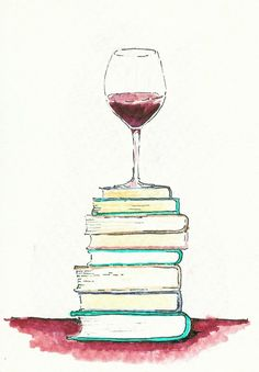 All I need some days, books and good wine