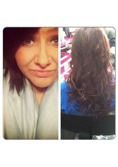 Hair extensions before and after by Lindsey