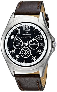Tommy Hilfiger Smartwatch Quartz Stainless Steel and Leather Casual Watch ColorBrown Model 1791406 -- Learn more by visiting the image link. Note: It's an affiliate link to Amazon #menwatch