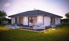 Klasické domy môžeme zaradiť medzi vyhladávané projekty bungalov citole ponúka viac. Okrem prepracovanej dispozície aj mimoriadne nízke náklady na energie. Style At Home, Facade House, Loft, Front Yard Landscaping, Outdoor Furniture, Outdoor Decor, Home Fashion, My House, Gazebo