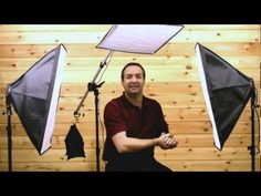 Video Lighting Basics tutorial, Three point lighting softbox lighting