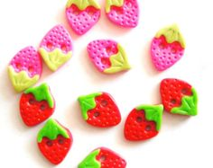 Items similar to Button Tiny Island handmade polymer clay buttons ( 4 ) on Etsy