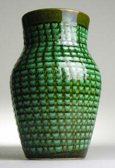 Scheurich West German Pottery.  Modernist Mid Century Green