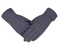 Fostly Leather Coral Fleece Gloves Button Stitching Gloves Winter Warm Windproof Gloves For Cycling Motorcycle Motorbike Bike Riding Black