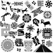 Elementos de diseño americano antiguo — Vector de stock