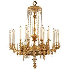 19th century ormolu | French 19th Century Neoclassical Style Eighteen Light Ormolu ...