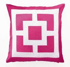 Trina Turk Palm Springs Block Pillow in Pink