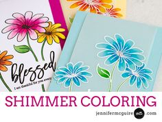 Shimmer on Vellum: Spectrum Noir Sparkle Pens & Wink of Stella Glitter Pens + GIVEAWAY - Jennifer McGuire Ink