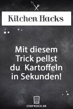 Kitchen Hack: Mit diesem Trick pellst du Kartoffeln in Sekunden!