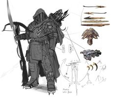 an Wilkins : Dragon Hunter Concept Art Dark Fantasy, Fantasy Concept Art, Fantasy Character Design, Fantasy Armor, Medieval Fantasy, Character Design Inspiration, Character Concept, Character Art, Larp