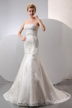 Strapless Ivory Tulle Wedding Dress sfp0481 - http://www.shopforparty.com/strapless-ivory-tulle-wedding-dress-sfp0481.html - COLOR: Ivory; SILHOUETTE: Trumpet/Mermaid; NECKLINE: Strapless; EMBELLISHMENTS: Applique , Beading , Sequin; FABRIC: Tulle - 195US