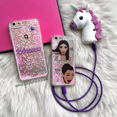 Left or right?! @luxylemon Love these glitter cases  Perfect combo with unicorn power bank charger! Keep your device charged on the go at www.luxylemon.com  . Spend $30 or more & receive FREE mystery gift  (up to $21 value) follow @luxylemon @luxylemon @luxylemon