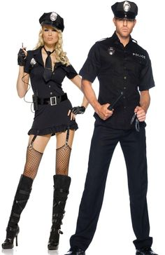 Sexy Police Officer Couples Halloween Costume - Leg Avenue, teezerscostumes.com