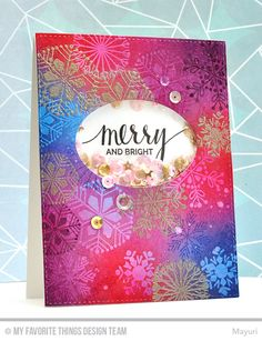Hand Lettered Holiday, Snowflake Flurry, Oval STAX Die-namics - Mayuri  #mftstamps