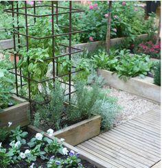 Perfect raised garden boxes Kitchen garden at Bolen residence Veg Garden, Garden Boxes, Edible Garden, Garden Cart, Flora Garden, Vegetable Gardening, Veggie Gardens, Garden Oasis, Garden Pond