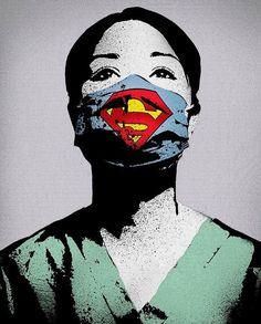 The real superheroes Canvas Frame, Canvas Wall Art, Wall Art Prints, Canvas Prints, Real Superheroes, Nurses Week Gifts, Nurse Art, Medical Art, Banksy