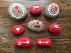 Painted Rock. Valentine's Day. Northeast Ohio Rocks! on Facebook #northeastohiorocks