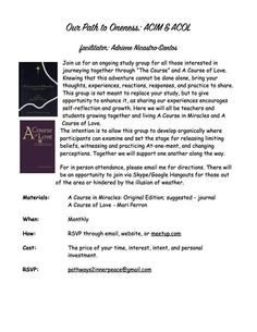 Path to Oneness: ACIM & ACOL Study Group - Central PA Holistic Wellness (State College, PA) - Meetup