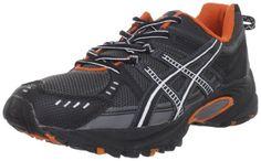 ASICS Men's GEL-Venture 3 Trail Running Shoe,Charcoal/Black/Orange,11 M US >>> You can get additional details at the image link.